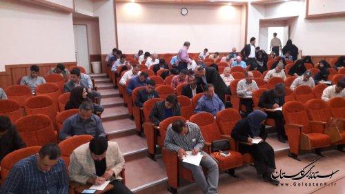 آزمون دوره آموزشی انتخابات (تهدیدات و فرصت ها ) برگزارشد .